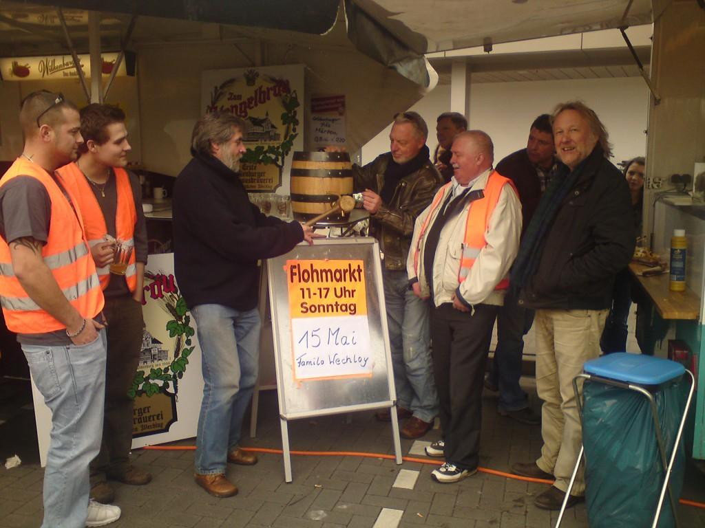 Hengelbräu beim Sonntagsflohmarkt in Wechloy